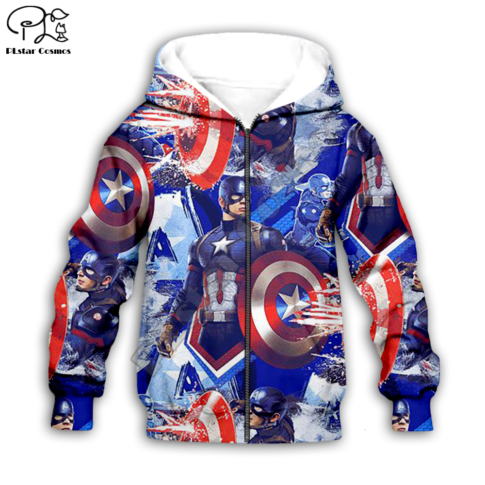 Captain America Costume Marvel Boys /& Toddler Zip Up Hoodie