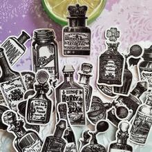 Stickers Diary-Planner Photo-Party-Favors Bottle Scrapbooking Vintage White Label 25pcs