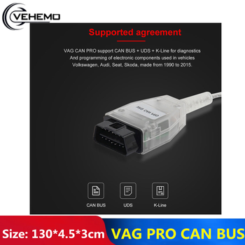 Durable OBD2 Scanner Car Tool Connectors VAG/ PRO CAN Without Dongle V5.5.1 Diagnostic Device Vag Com Diagnostic Tool For Audi professional ecu chip tunning tool vag tacho 5 0 usb with usb dongle v 5 0 vag tacho for nec mcu 24c32 or 24c64 free shipping