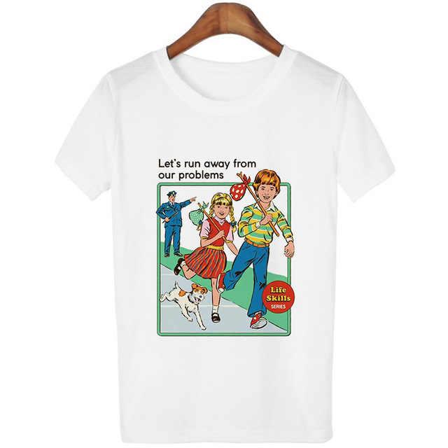 原宿かわいいトップス 80s 90 ヴィンテージ Tシャツフォロー女性 Tシャツおかしい服がコールをエクソシスト女性 tシャツ白