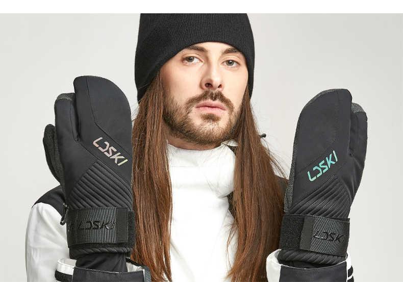 Kayak eldivenleri snowboard eldiveni PU veya Kevlar palm koruma termal yalıtım kayak eldivenleri yarı profesyonel bilek koruyucu eldivenler