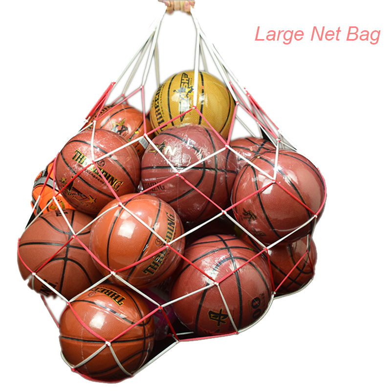 1pcs Net Bag 10 Balls String Bag PE Tool Carry Tuck Net Portable Fashion Sport Net Football Bag Football Accessories