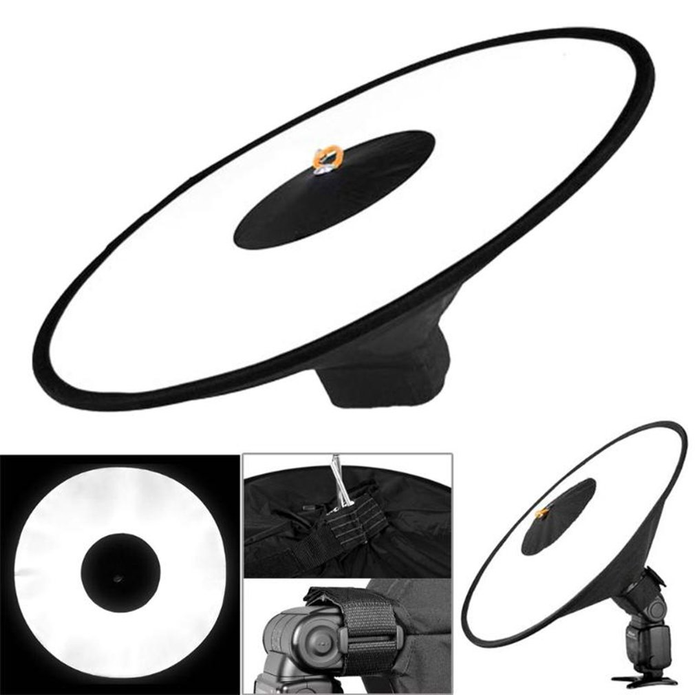 Portable Round Softbox Universal Photography Studio Flash Diffuser Soft Box Strap Oxford Cloth For Camera Flash