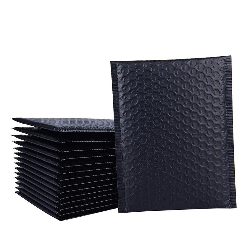 100pcs Matte Black Bubble Mailer Envelopes Padded Mailing Bag Self Sealing Foam Foil Courier Bag Waterproof Bubble Bags 5 sizes