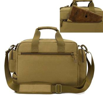 NANCY TINO Military Handbag 14inch Laptop Tactical Bags Camouflage Army Molle System Bag Ffor Camping Hiking Travel Outdoor 4