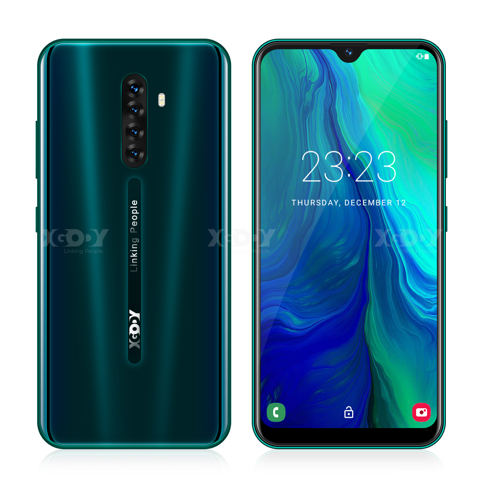 XGODY Note8 4G Smartphone Android 9.0 6.26inch Waterdrop Screen 2GB 16GB MTK6737 Quad Core 8MP Camera 2850mAh Mobile Phone