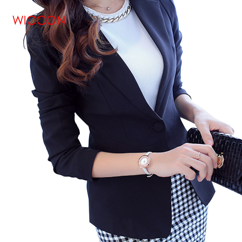 Women Fashion Blazer Slim Fit 2020 Long Sleeve Pink Single Button Coat Office Ladies Womens Notched Tops Blazers Feminino