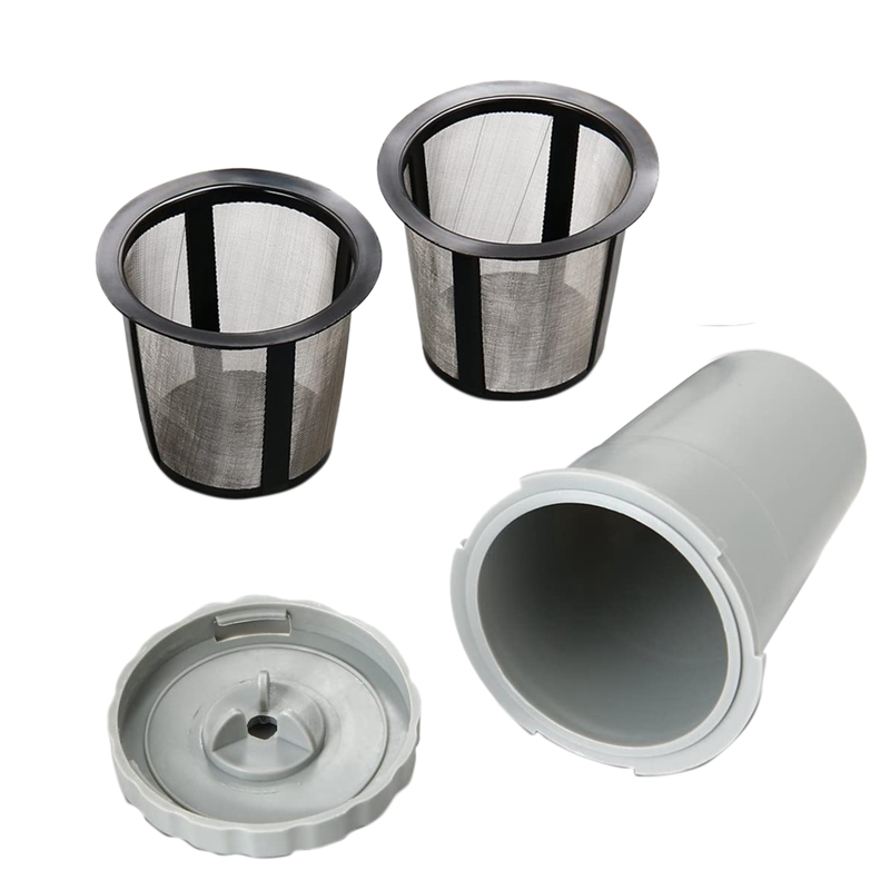 Reusable Coffee Filter Set for Keurig My K-Cup Style, 2 Filter Housing + 6 Extra Filters Fits B30 B40 B50 B60 B70 Series