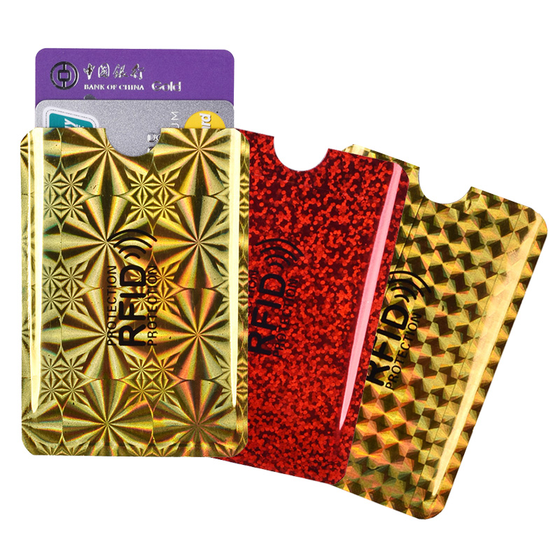 RFID Blocking 5PCS Credit Card Cover Wallet Aluminum Metal Credit ID Card Protective Case NFC Shielded Cover
