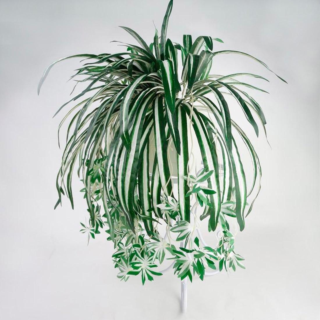 1 шт., 66 см, 5 вилок, искусственные цветы орхидеи, растения, на стену, хлорфитум, горшечные Зеленые растения, имитация цветов для дома, Декор|Искусственные и сухие цветы|   | АлиЭкспресс
