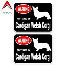 Welsh Corgi auto pegatinas Sticker Adhesivo líneas generales silueta con ornament