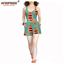 Женский короткий комбинезон в африканском стиле Повседневный