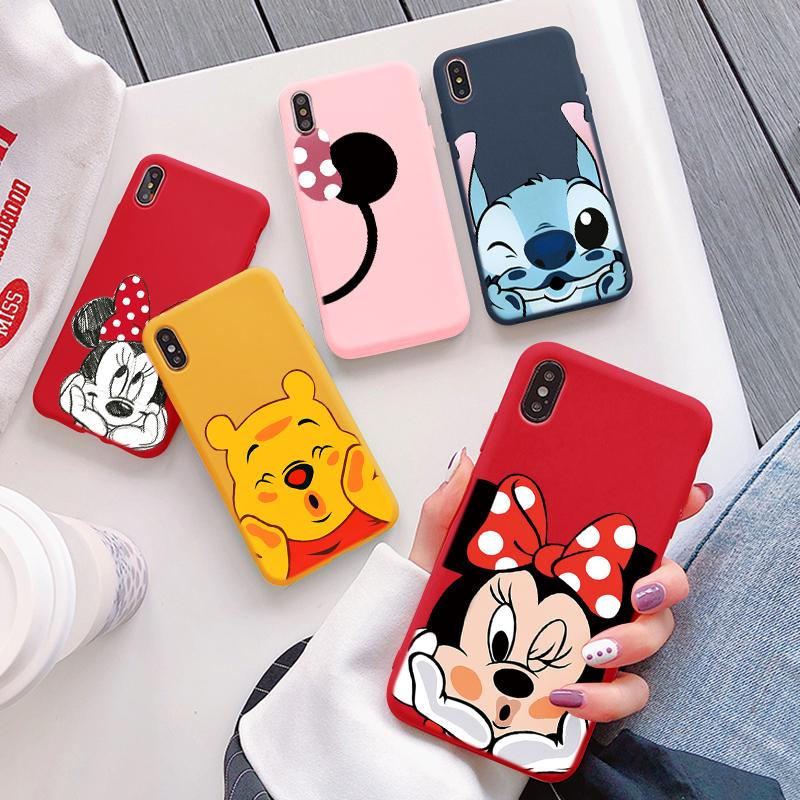 Candy Color Matte Case For <font><b>Huawei</b></font> <font><b>Honor</b></font> <font><b>8X</b></font> 7A 7X 9 10 View 20 Pro Lite 10i 20i Play Y6 Y9 Pro 2018 2019 Cartoon Phone Case Capa image