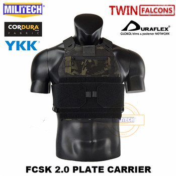 MILITECH FCSK 2.0 Advanced Slickster Plate Carrier Military Combat Tactical Vest Police Body Armor Carrier For 10x12/SAPI/ESAPI 4