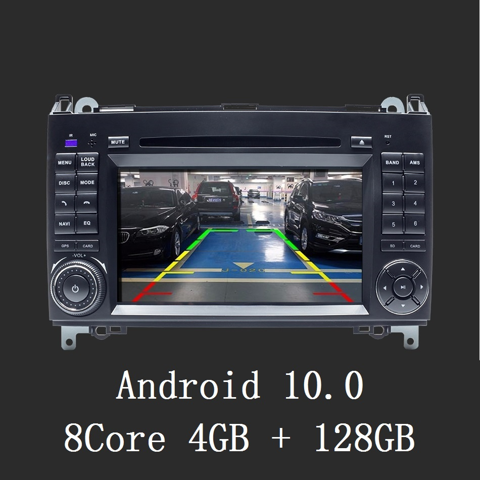 8 Core 4GB+128GB Car Multimedia Player <font><b>GPS</b></font> Android10 Auto Stereo 2 Din For <font><b>Mercedes</b></font> Benz Sprinter Viano Vito B-class B200 <font><b>B180</b></font> image