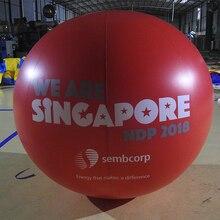 Индивидуальные 2 м надувные красные ПВХ рекламные шары