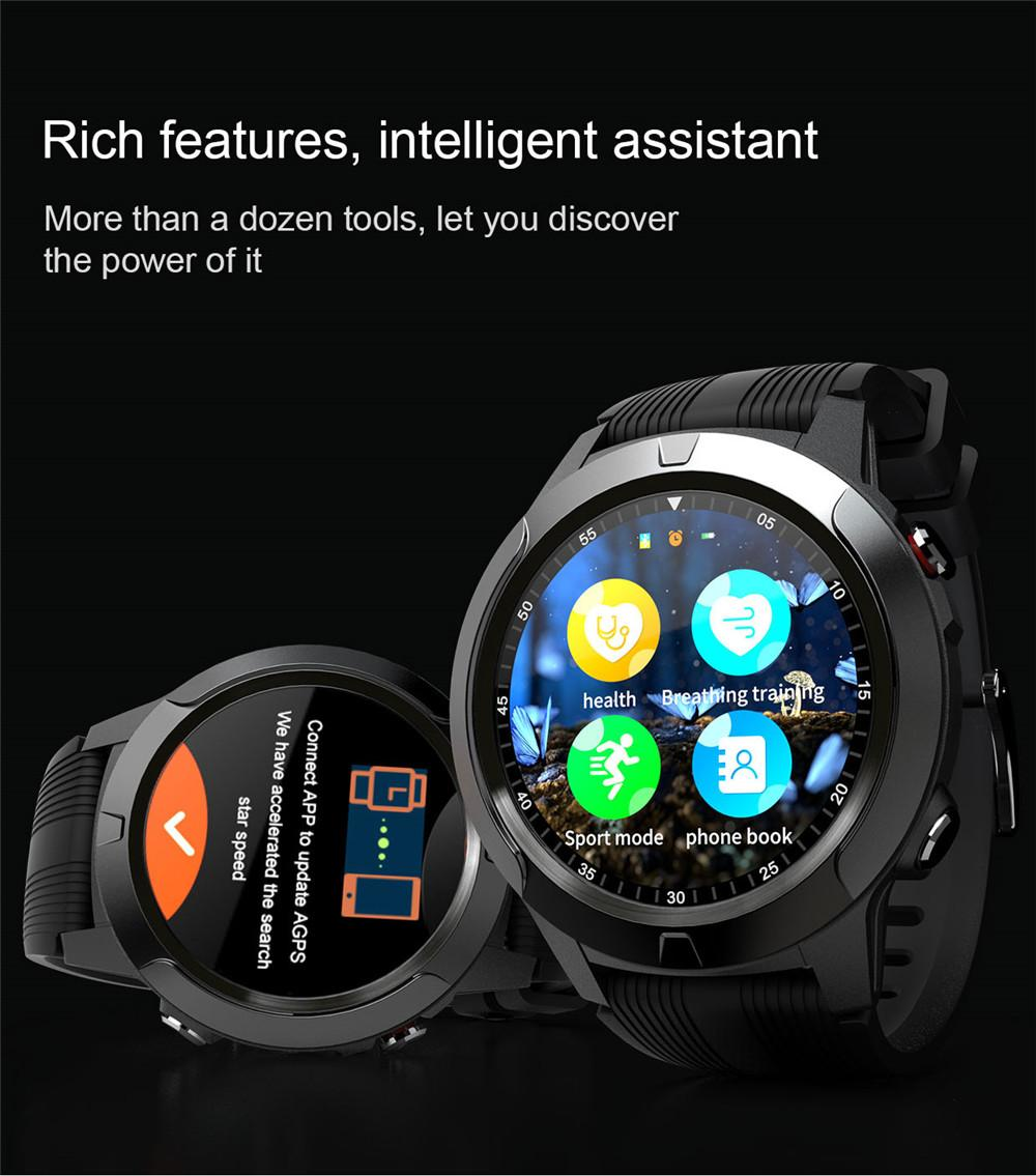 Hc1ae0fb4c5e14d1ba303a55f26c49427q 2020 Built-in GPS Smart Watch GSM bluetooth Call Phone Air Pressure Heart Rate Blood Pressure Weather Monitor Sport Smartwatch