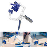 Auto-adjustable Rugged 90 Degree Corner Clamp and Face Frame Woodwork Right Angle Clamp Fit Tool