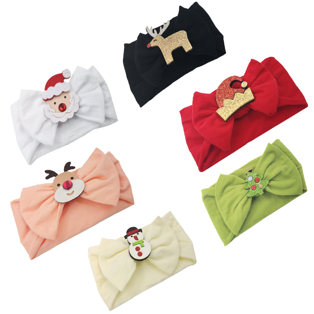 Christmas Nylon Baby Headband Hair Accessories For Newborn Toddler Bows Baby Girl Headbands Bandeau Bebe Fille Diadema Nina