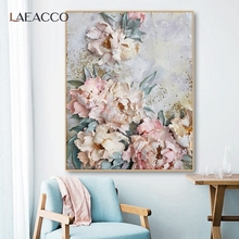 Laeacco Scandinavian Flowers Canvas Painting Wall Art Picture Posters and Prints Home Decor For Bedroom Living Room Decoration