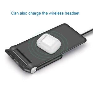 Image 3 - 15W szybka bezprzewodowa podkładka ładująca składany 10W Qi ładowania stojak na iPhonea 11 Pro Max XS XR X 8 Samsung S10 S9 s8 Plus uwaga 10 9