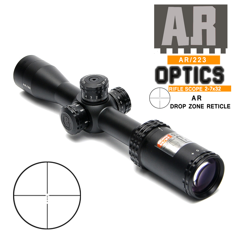2-7X32 Tactical Riflescope AK47 AK74 AR15 Hunting Scope Fast Focus Sight Rifle Scope Sniper Hunting Scopes