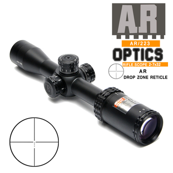 2-7x32 mm AR Drop Zone-223 Tactical Riflescope with Side Parallax Optic Sight