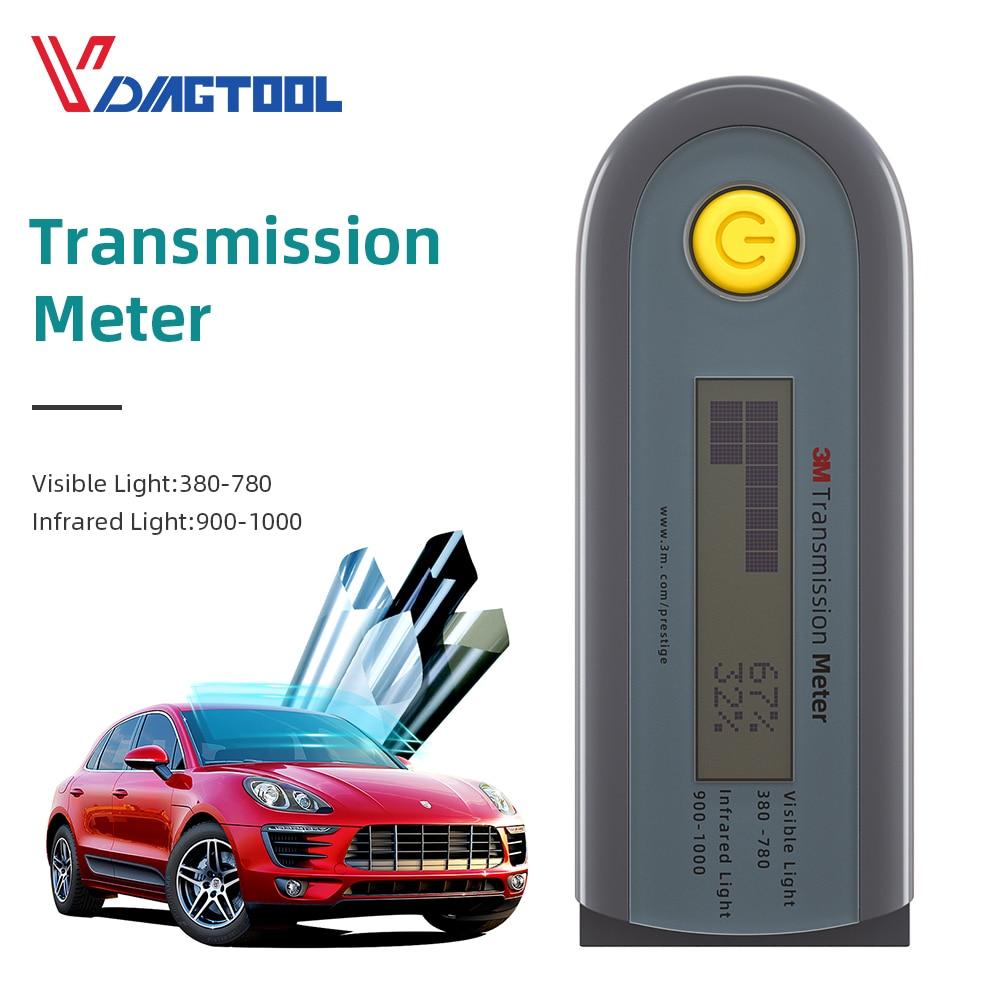 VDIAGTOOL Car Solar Films Tester Visible Infrared Barrier Tester Instrumentation Light Transmittance Test Transmission Meter