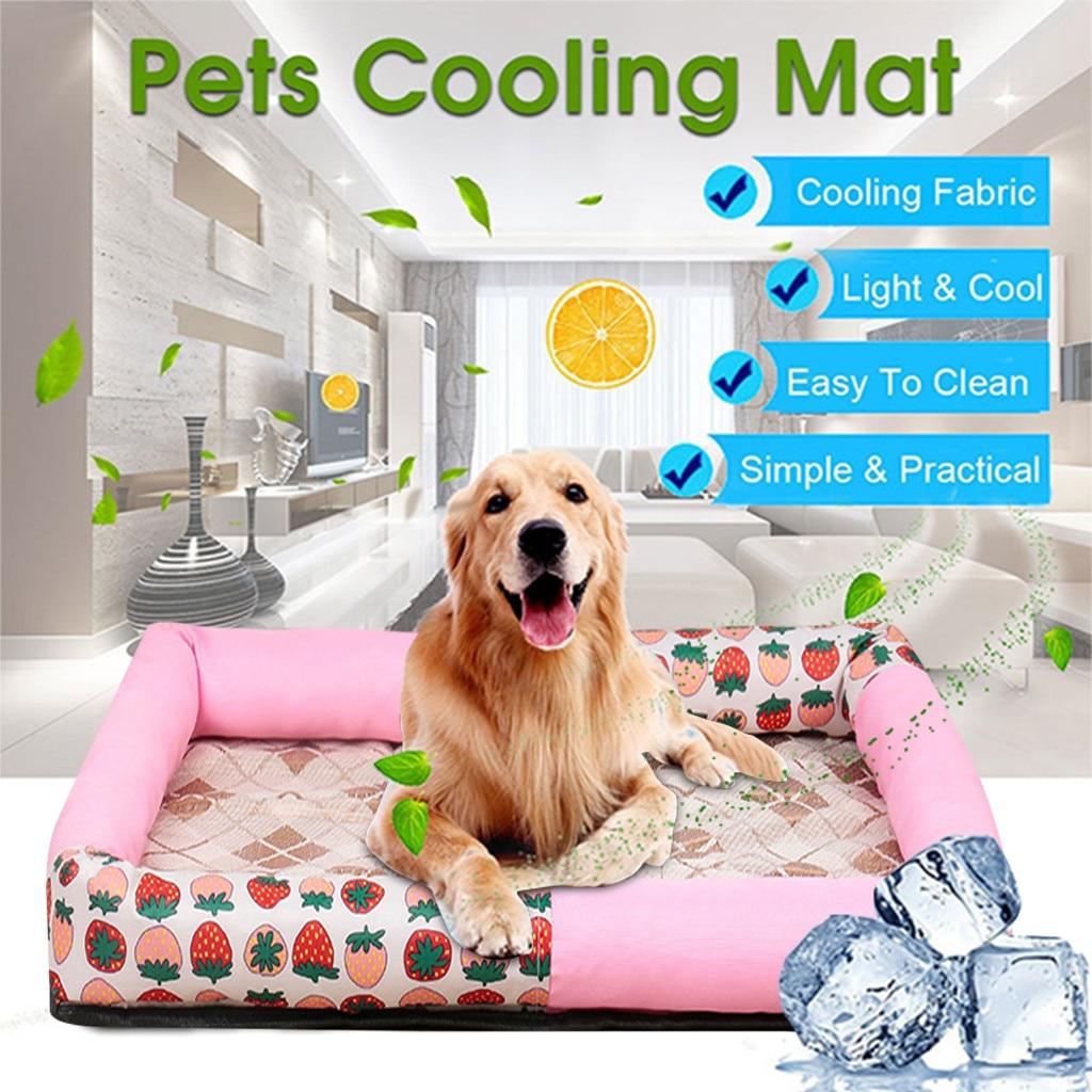 Summer Cooling Pet Dog Mat Ice Pad Sleeping Mats Top Quality Cool Silk Bed