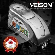 VEISON, мотоциклетный водонепроницаемый замок с сигнализацией, велосипедный замок Steelmate, дисковый Предупреждение, защита от кражи, тормозной замок, Alarma Moto