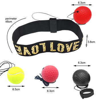 Boxing Reflex  ball speed with Adjustable Headband head-mounted Boxing reaction training ball fitness equipments 2