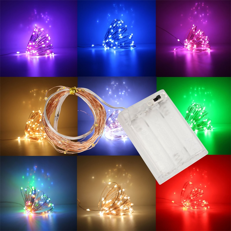 LED String Light 1M 2M 3M 4M 5M 6M 7M 8M 9M 10M Copper Wire Garland Home Christmas Wedding Party Decoration Powered 3*AA Battery