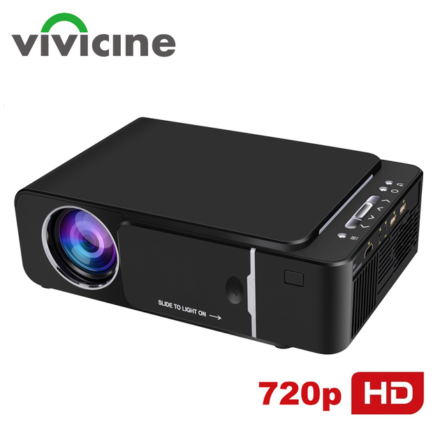 VIVICINE 1280x720p HD Portable Projektor, option Android 10,0 HDMI USB 1080p Home Theater Proyector WIFI Mini Led Beamer