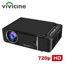 Vivicine 1280 × 720 1080pポータブルhdプロジェクター、オプションアンドロイド10.0 hdmi usb 1080 1080pホームシアターproyector無線lanミニledビーマー