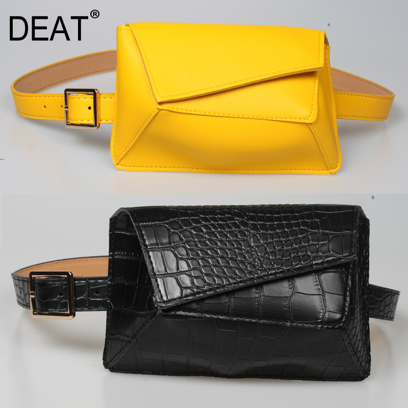 DEAT 2020 New Spring And Summer Colorful High Quality PU Leather Covered Waist Belts Female Belt WK24207