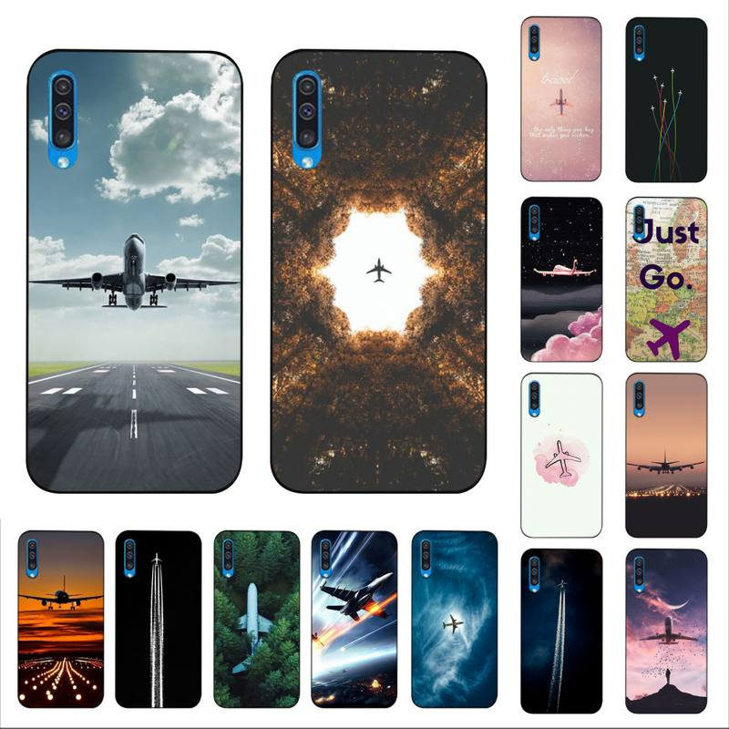 MaiYaCa Aircraft Airplane fly travel cloud Plane Painted Phone Case For Samsung A6 30s A50 <font><b>70</b></font> 10 40 51 20 71 30 20s A7 8 <font><b>2018</b></font> image