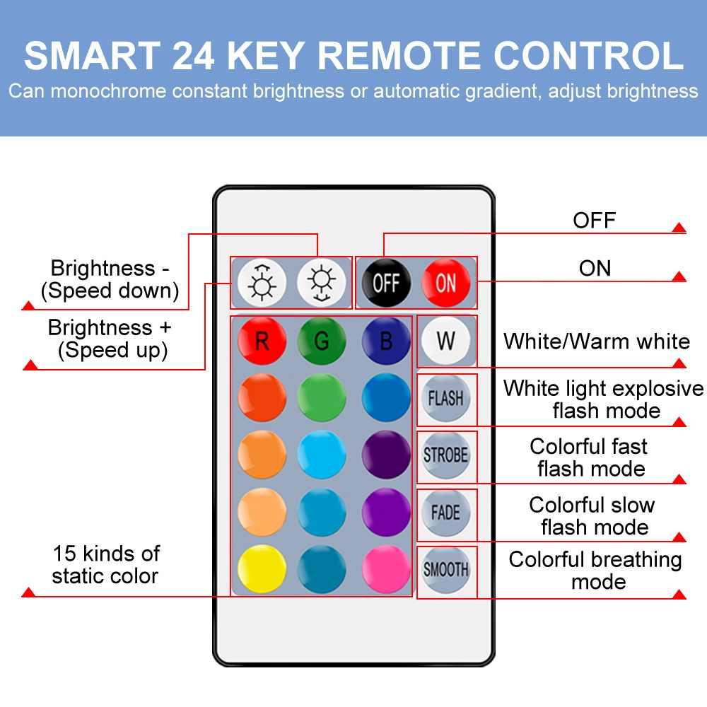 220V Led RGB Lampu E27 IR Remote Control Led Bulb 5W 10W 15W Led Light Bulb 110V Dimmable Warna Pencahayaan Yang Dinamis Pihak Dekorasi Lampu