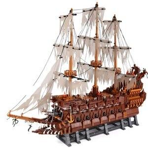 3653 шт. серия идей Летающий голландский корабль Netherland судостроение создатель вечность Пиратская лодка кино кирпичи сборные игрушки Дети