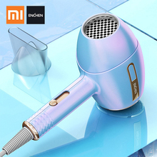 Xiaomi ENCHEN Anion Hair Dryer 1200W 220V Professional Barber Salon Styling Tools Hot/Cold Air Blow Dryer 3 Speed Adjustment 2800w professional hair dryer fast styling tools hot and cold wind high power anion ceramic blow dryer with nozzles