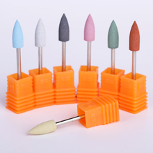 1 Pc 6*16mm Silicone Electric Nail Drill 3 Size Remover Machine File Art Replacement Tool 7 Colors