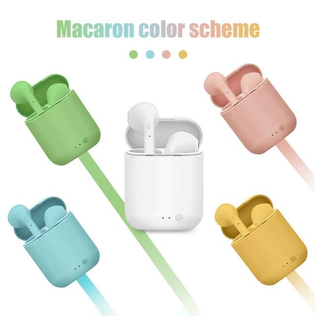 i7Mini Headphones TWS Bluetooth-compatible Earphones for iPhone Android Smartphones Wireless Headphones Sport Waterproof Earbuds 1