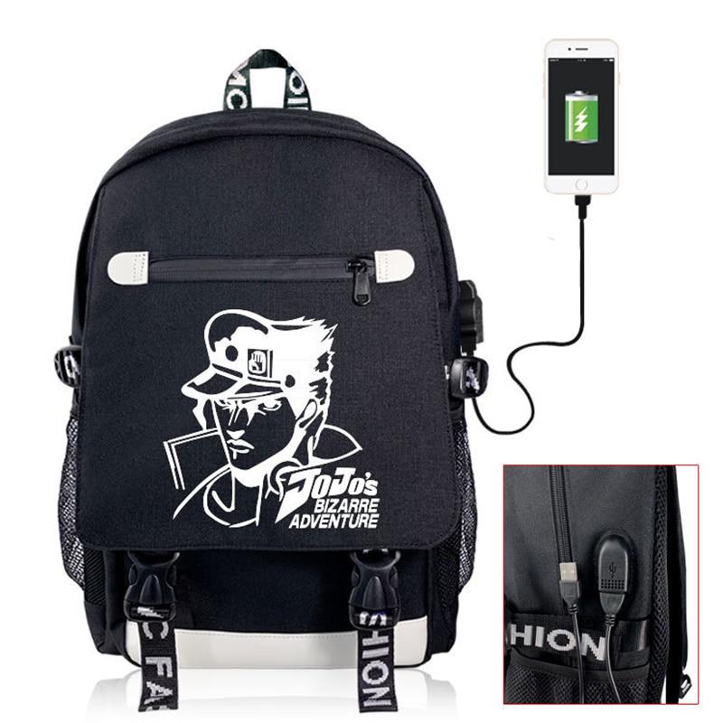 Japan Anime JOJO/'S BIZARRE ADVENTUR Handbag Waterproof Satchel Backpack Black