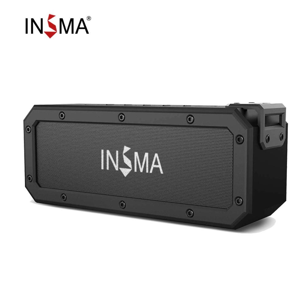 INSMA S400 PLUS 40W bluetooth Speaker NFC Portable Speakers IPX7 Waterproof Subwoofer Outdoor TWS Boombox Wireless Loudspeakers