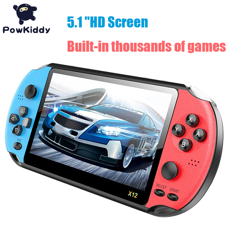 Powkiddy X12p Handheld Game Console 8G 32/64/128 Bit HD Color LCD Screen 3000+ Games Kid Video Retro Portable Game Player on TV image