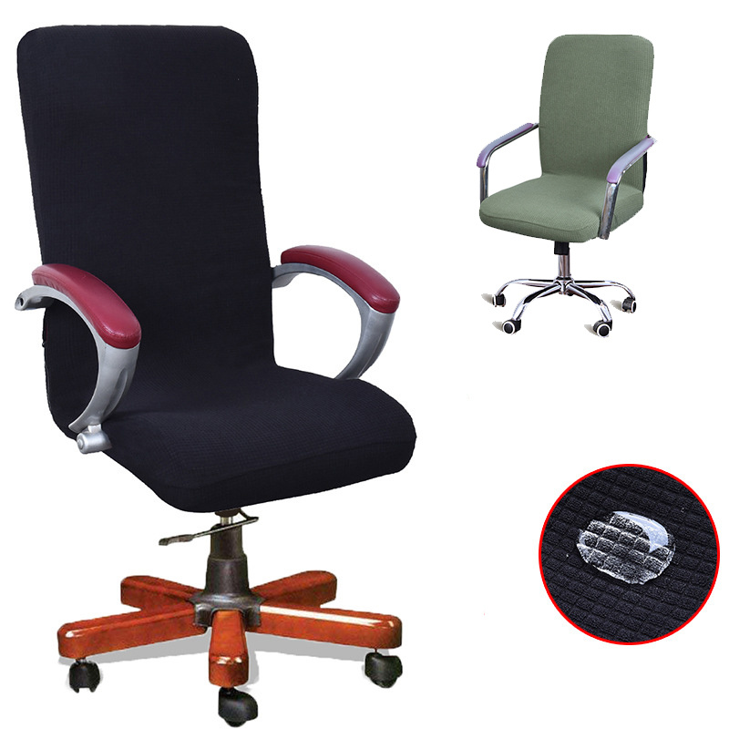Chair Cover New 9 Colors Modern Spandex Computer 100% Polyester Elastic Fabric Office Chair Cover Easy Washable Removeable