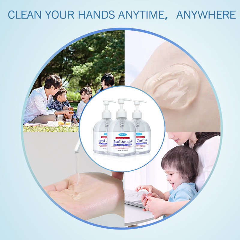 KIMUSE 3PCS 500ml Hand-Gel Hand Sanitizer Gel Anti-Bacteria Disposable Hand Washing Waterless Antibacterial Hand Soap