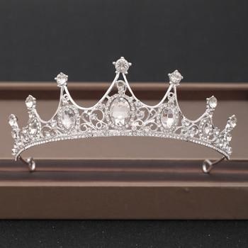 Wedding Crown Hair Jewelry Bridal Headpiece woman Baroque Rhinestones Crystal Tiaras Bride Party Crowns Wedding Hair Accessories 3