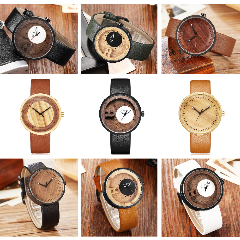 Men Bamboo Wood Watch Series Man Lady Wooden Wrist Watches Original Couple Retro Quartz Clock Reloj De Madera Relogio Masculino