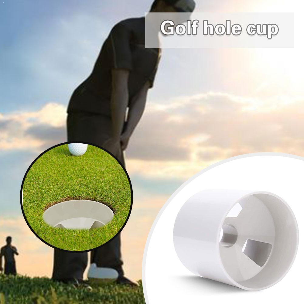 Golf Hole Cup For Putting Green Standard ABS Plastic Ball 1pc Socket Training Drain Holes 3 White Accessory Design Q0S2