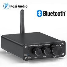 Fosi – amplificateur de puissance sonore stéréo à 2 canaux, Audio Bluetooth, Mini ampli numérique HiFi pour haut-parleurs 50W BT10A, aigus et basses